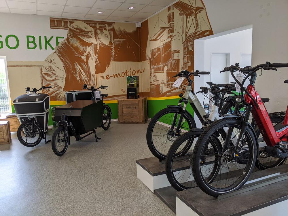 City e-Bikes in der e-motion e-Bike Welt Bremen