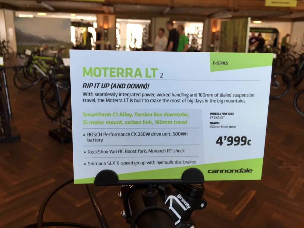 Cannondale 2017: Moterra und Moterra LT