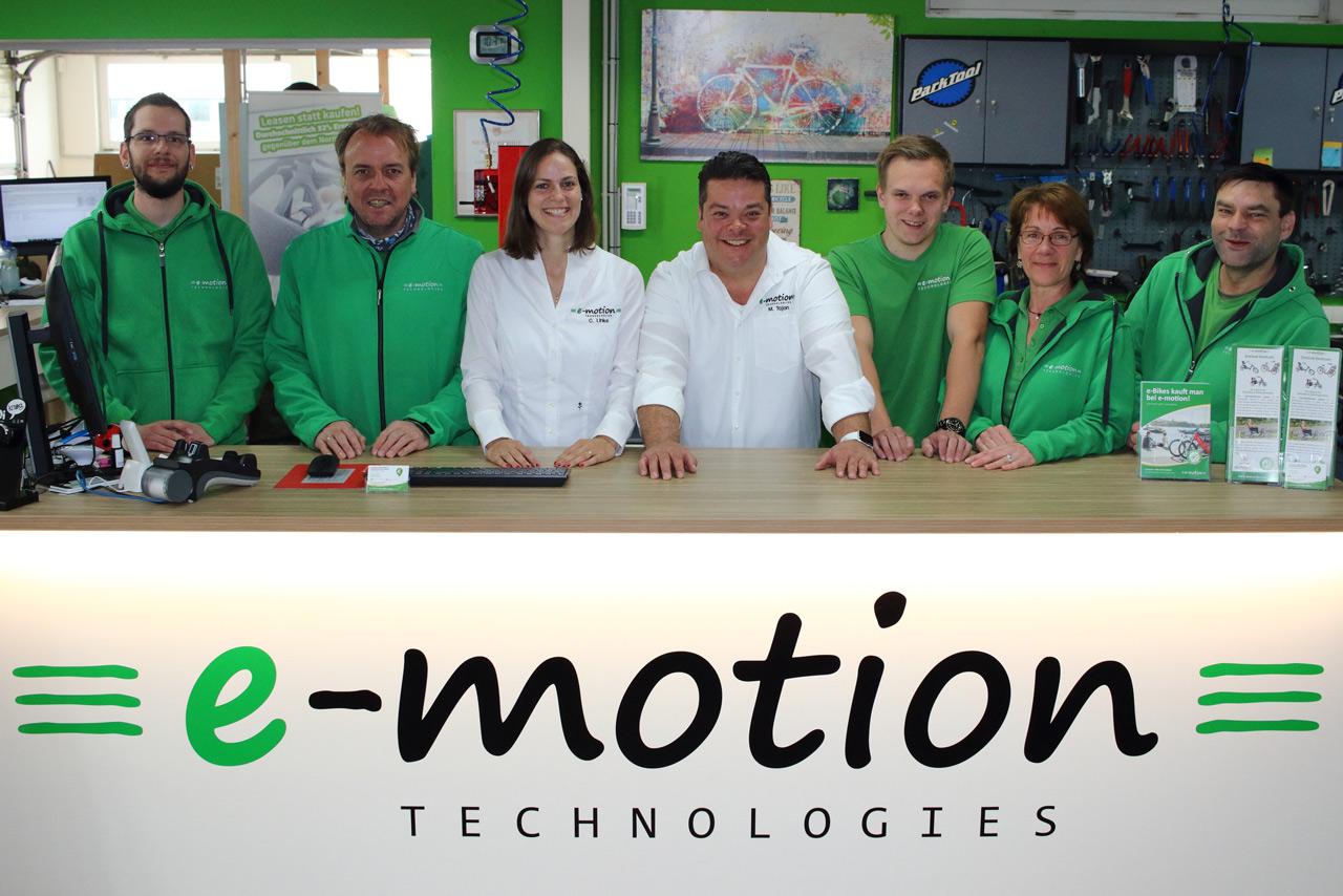Elektrofahrräder in der e-motion e-Bike Welt in Lübeck kaufen und Probefahren