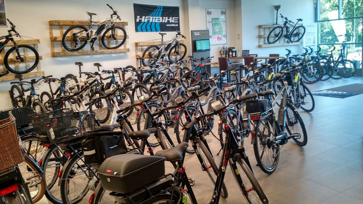 Die e-motion e-Bike Welt in Nürnberg West führt auch Riese & Müller e-Bikes