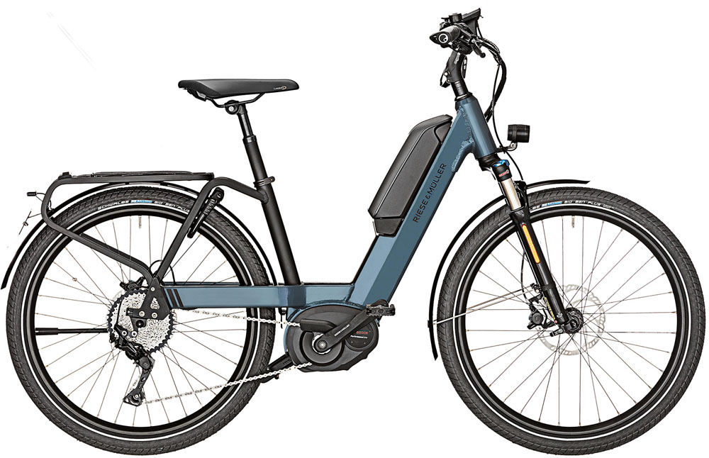 Riese & Müller Nevo Touring 2020 - midnight blue metallic