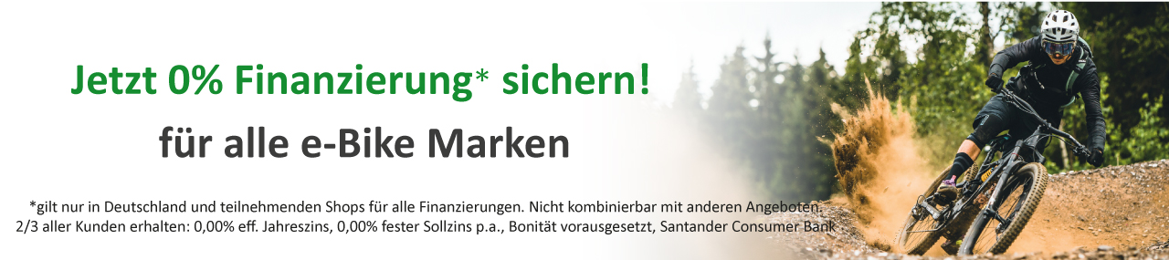 Alle e-Bikes, Pedelecs und Speed-Pedelecs von Mando mit 0% Zinsen finanzieren!