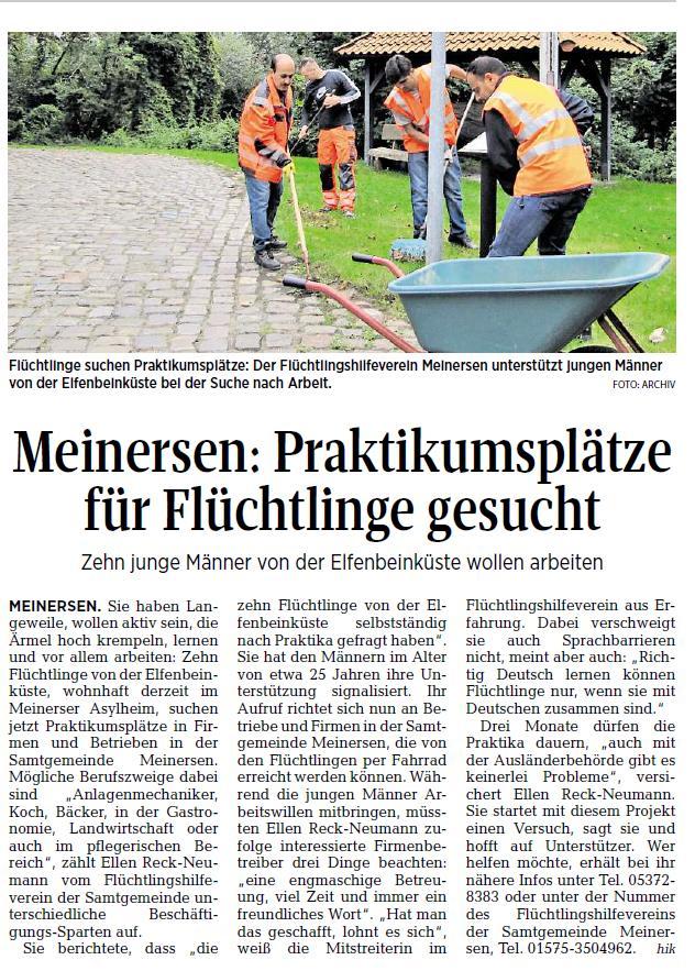 Aller-Zeitung vom 13.5.2017