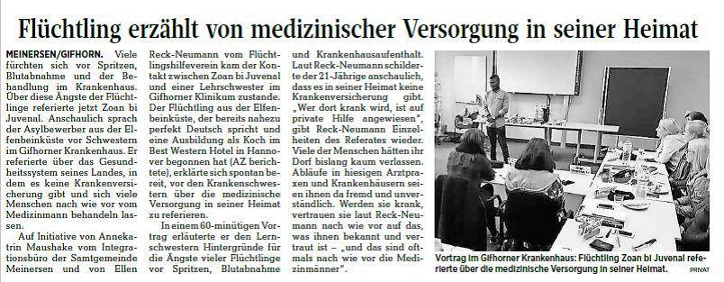 Aller-Zeitung vom 11.11.2017