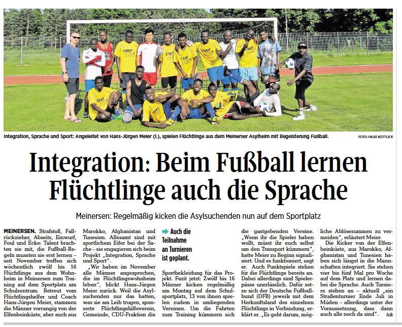 Aller-Zeitung vom 1.6.2017