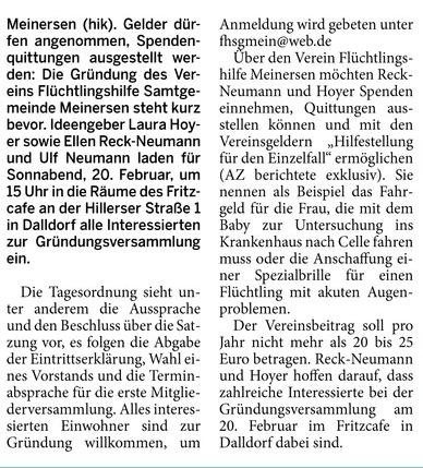 Aller-Zeitung 5.2.2016