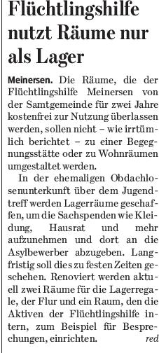 Gifhorner Rundschau vom 9.7.2016