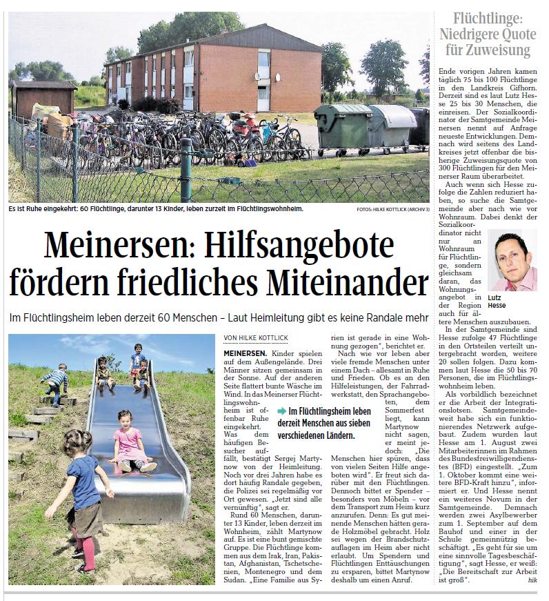 Aller-Zeitung vom 18.8.2016