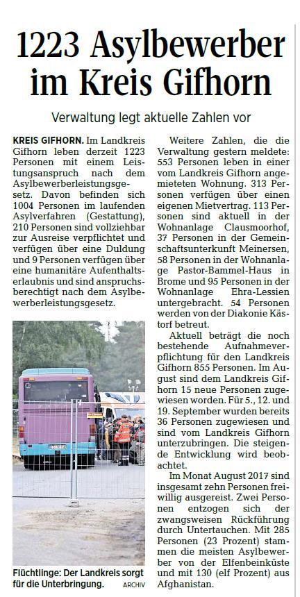 Aller-Zeitung vom 7.9.2017