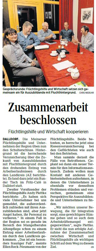 Aller-Zeitung vom 27.9.2018