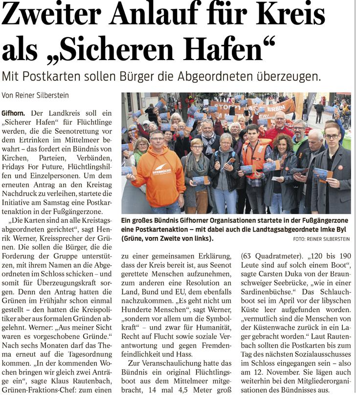 Gifhorner Rundschau vom 30.9.2019