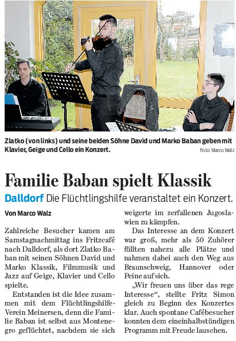Gifhorner Rundschau vom 21.3.2017