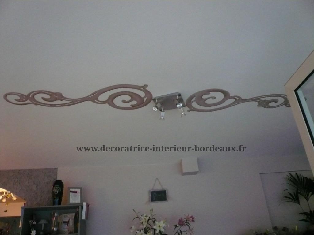 Décor réalisé sur un plafond