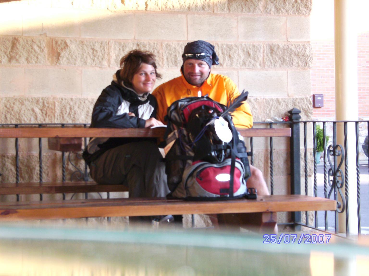 Jacobsweg 2007 mit meiner Nichte