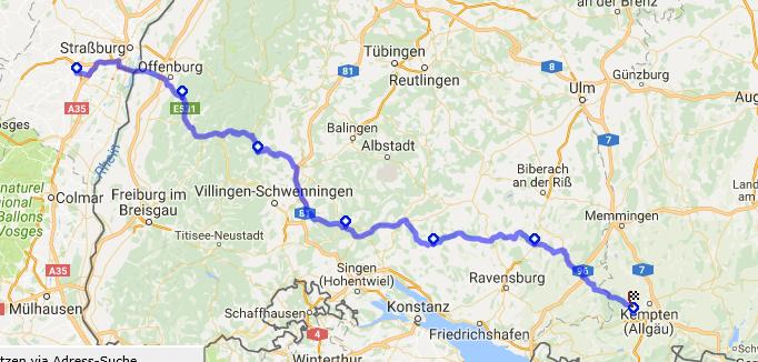 ...und nicht einen Kilometer Autobahn!...eine herrliche Strecke, die einen durch wunderschöne Gegenden, wie den Schwarzwald führt...
