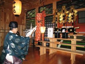 御形神社(みかたじんじゃ)祈祷の様子