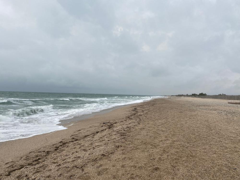 O bi nid ganz so schönem Wätter isch schön am Mönschäläärä Strand