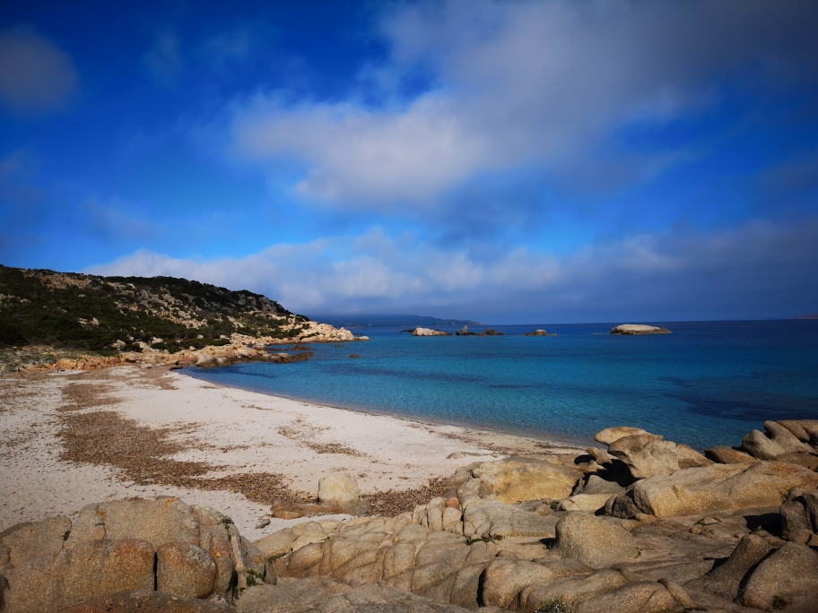 Lonely blue lagoons uf La Maddalena