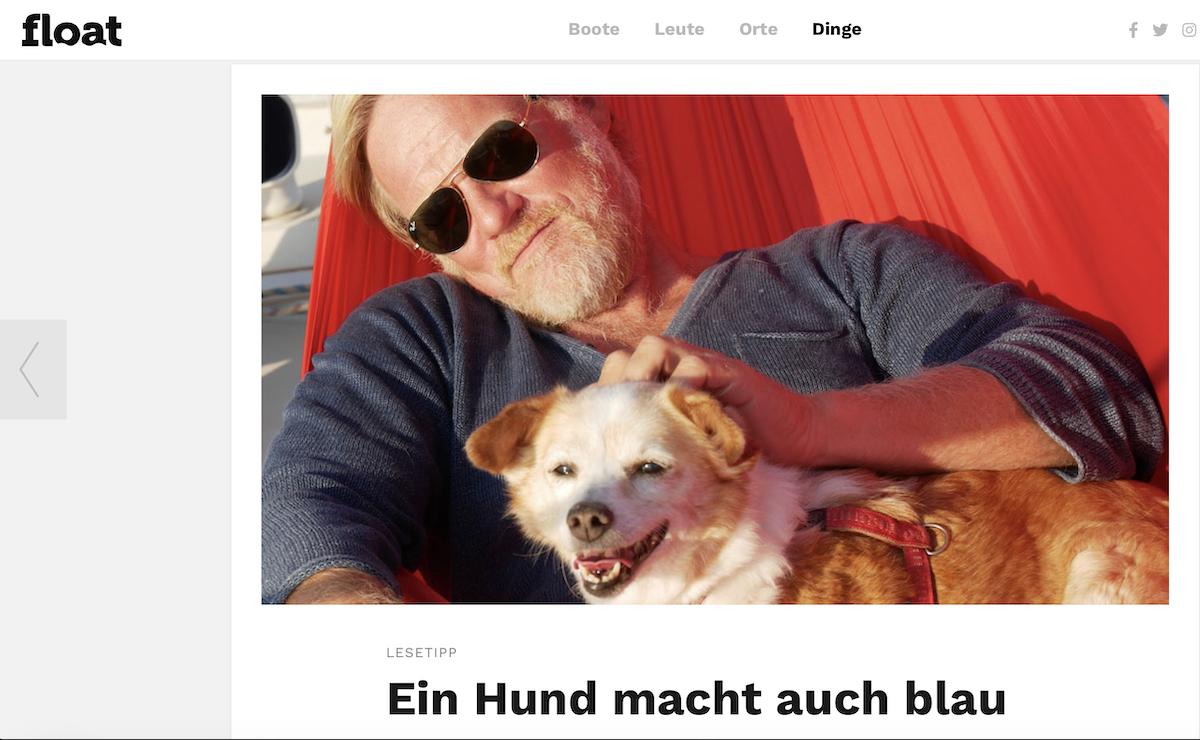 Ein Hund macht auch blau