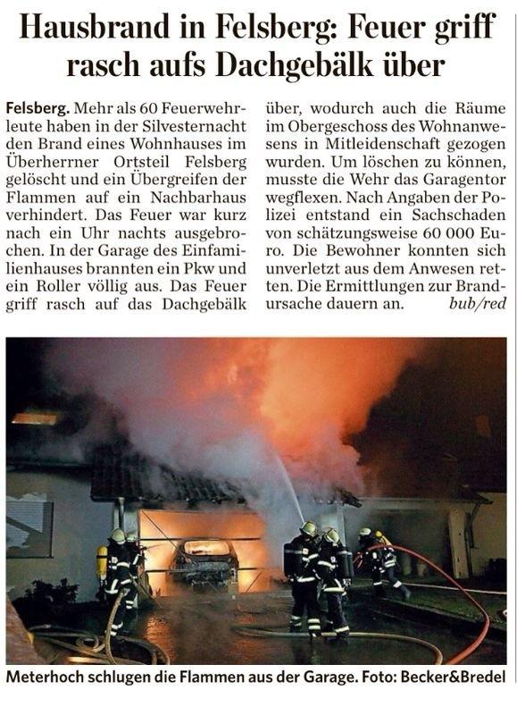 Bericht der Saarbrücker Zeitung