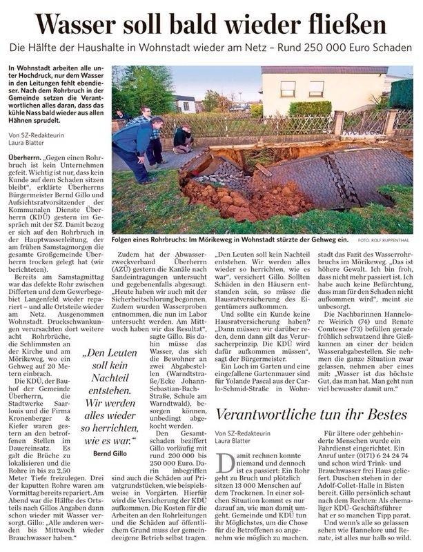 Quelle: Saarbrücker Zeitung 11.03.2014