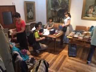 初会場となった笑恵館での一コマ。スタッフの松村さんが撮ってくださりました!貴重な写真です!ノエルママ、今回はいろいろと沢山のお手伝いをありがとう💓