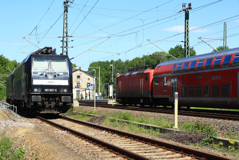 RB nach Dresden im Klingenberger Bahnhof