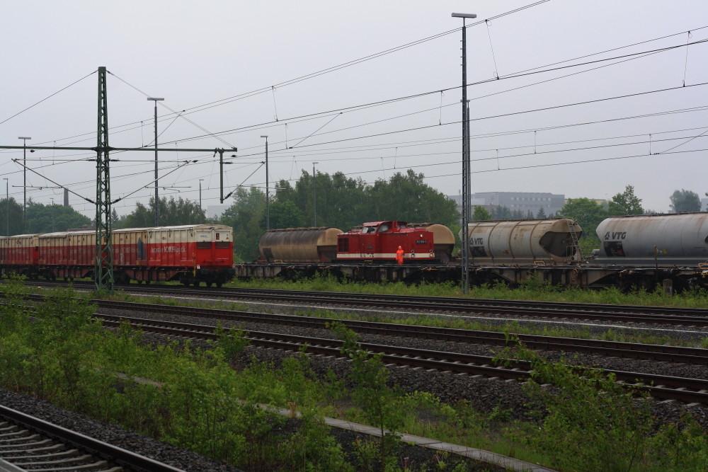 112 708 bei Rangiearbeiten in Freiberg