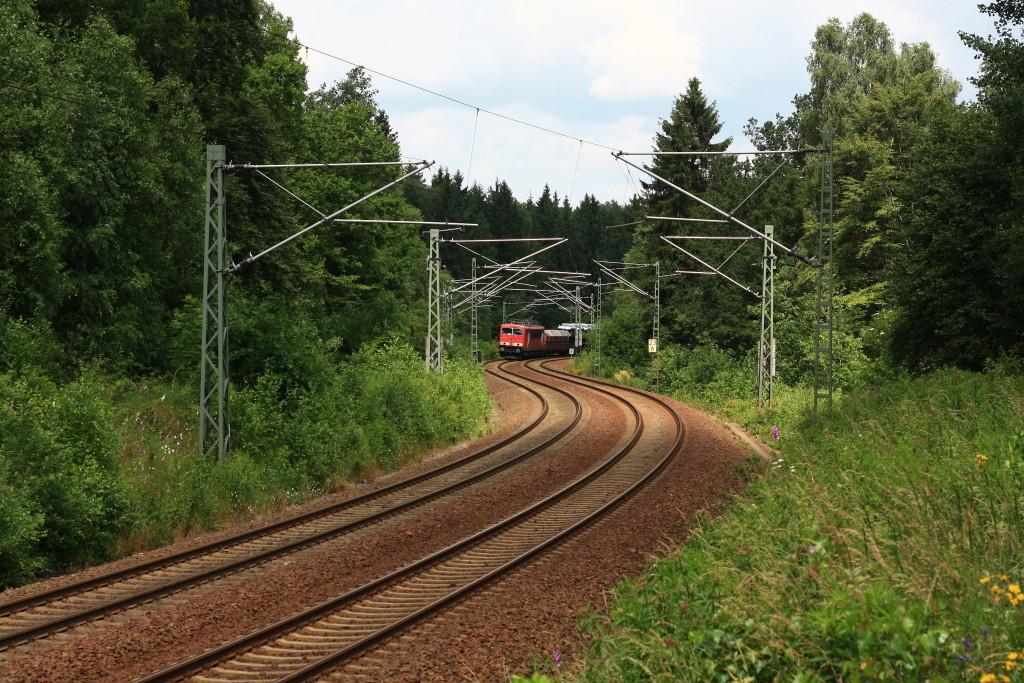 Der umgeleitetet EZ 525253 Leipzig-Zwickau kurz vor Klingenberg