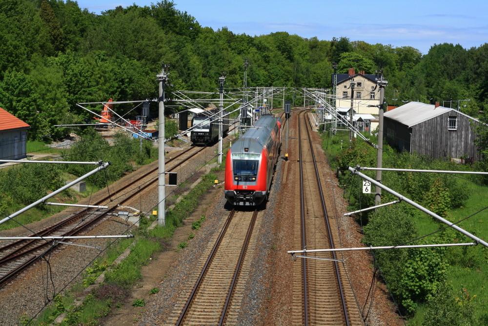S-Bahn nach Freiberg im Bahnhof Klingenberg-Colmnitz