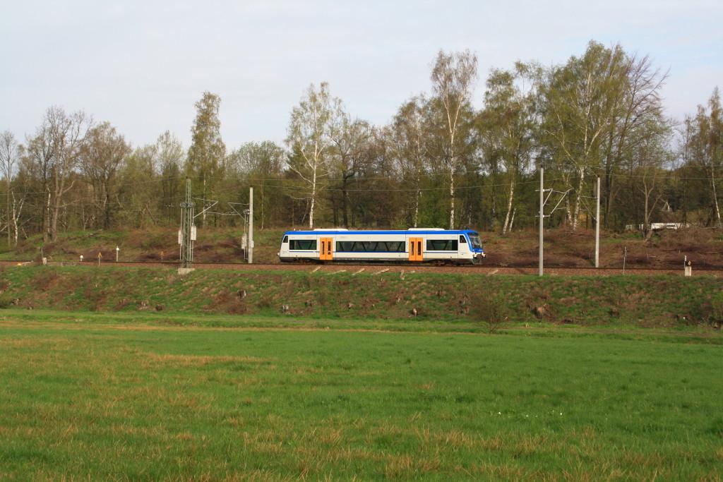 650 056 der Freiberger Eisenbahn auf dem Weg nach Klingenberg