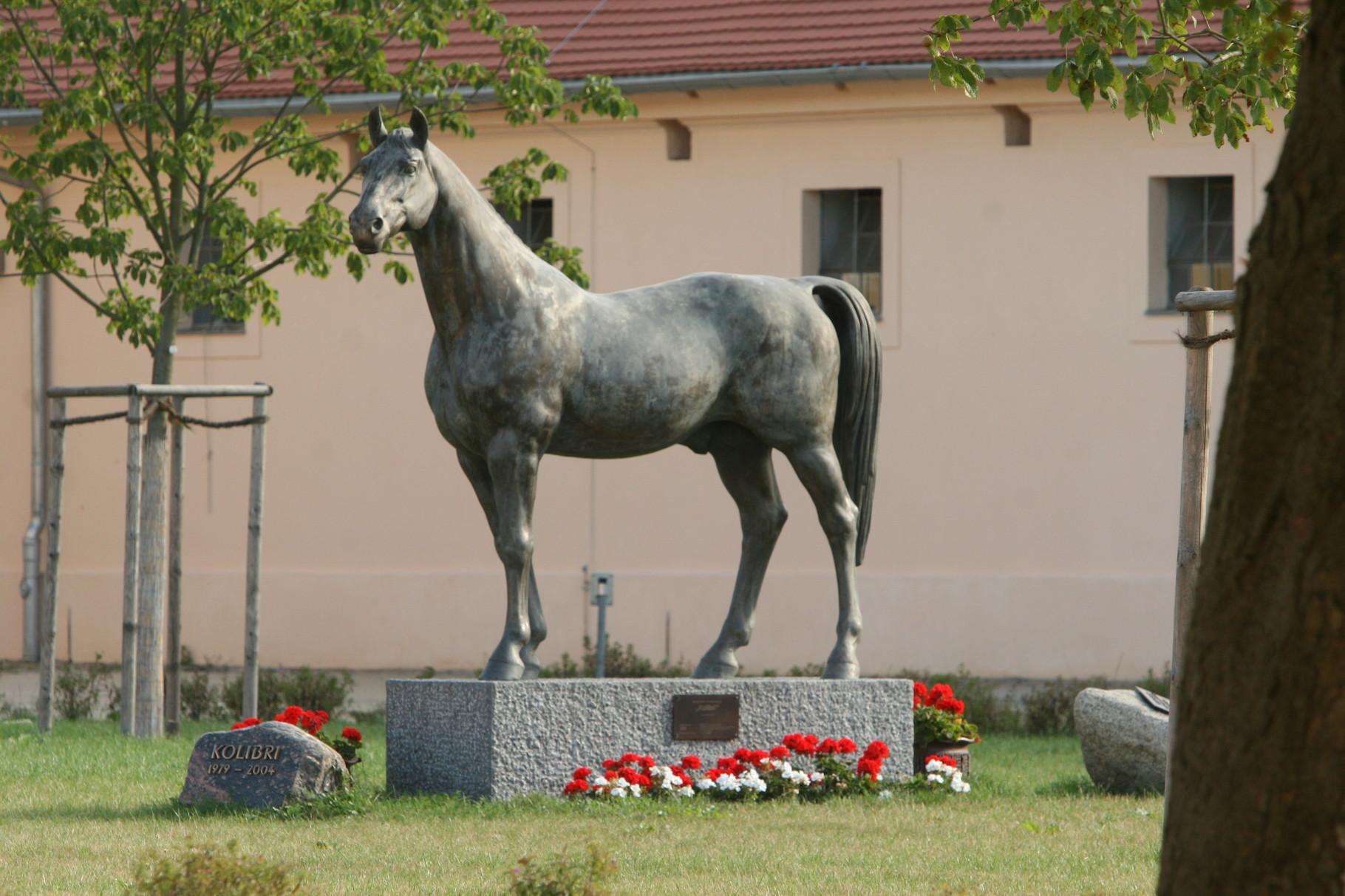 "Bronzestatue ""Kolibri""  auf dem Landgestüt"