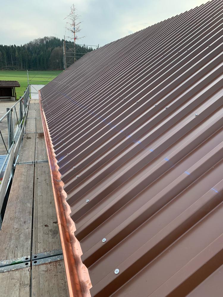 Das neue Dach ist bereit zur Montage der Solaranlage