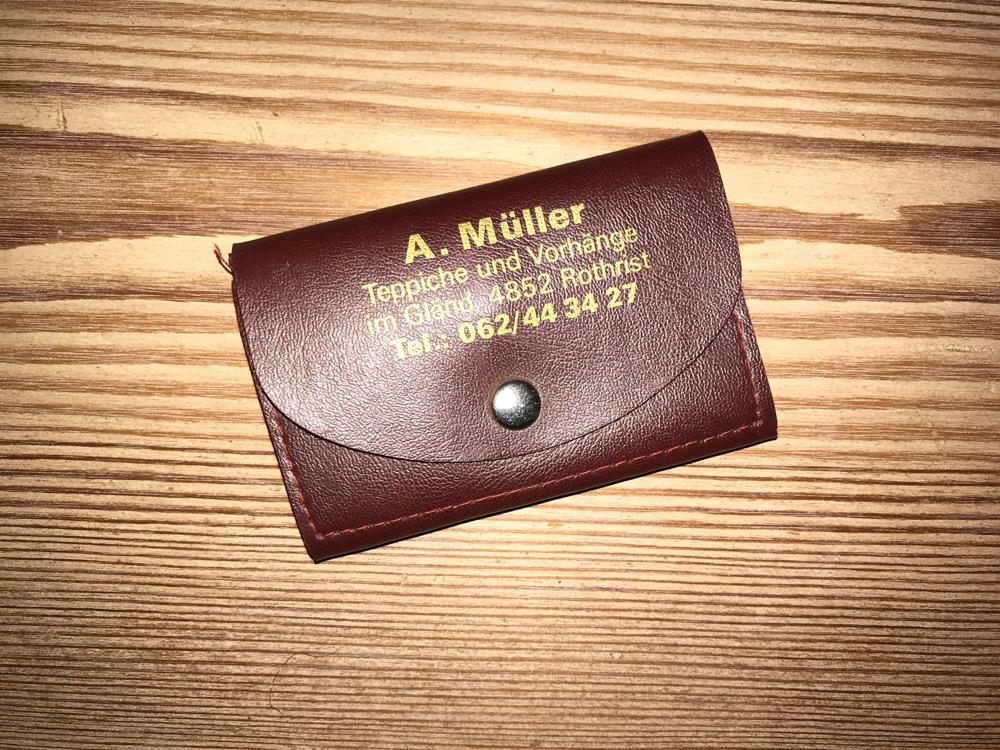 Schlüsseletui (Archiv) eines der 2 Werbegeschenke des Firmengründers. Unverkäuflich