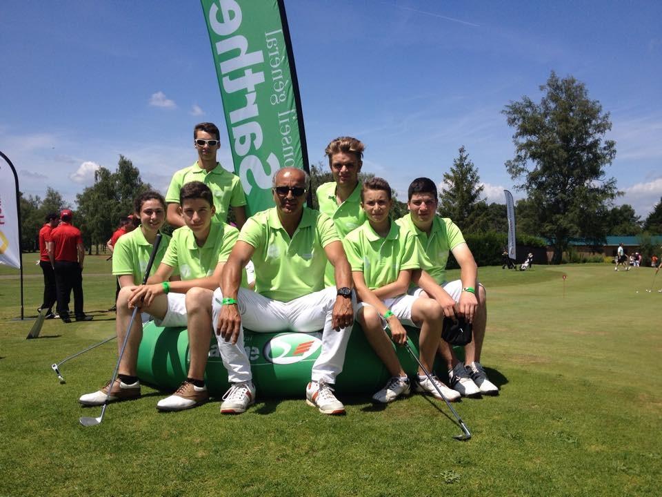 L'équipe des jeunes du comité de golf de la Sarthe