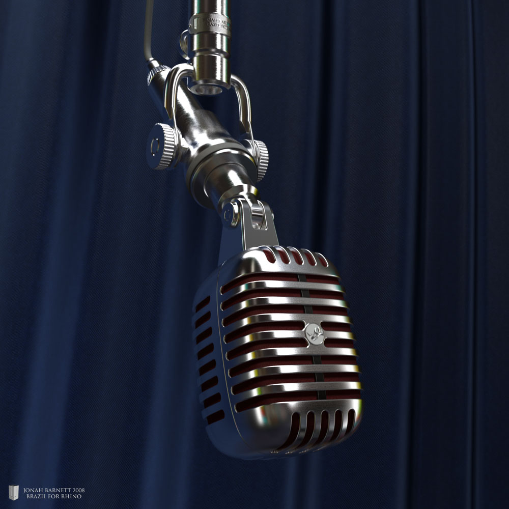 Vintage Microphone by Andrew le Bihan