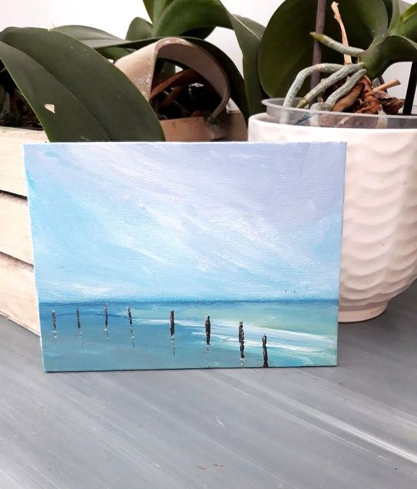 mini-peinture-paysage-marin-charente-maritime-petit-tableau-mer-ocean-royan-audrey-chal
