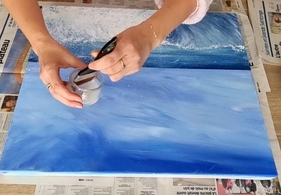 Comment vernir un tableau à la peinture acrylique ?