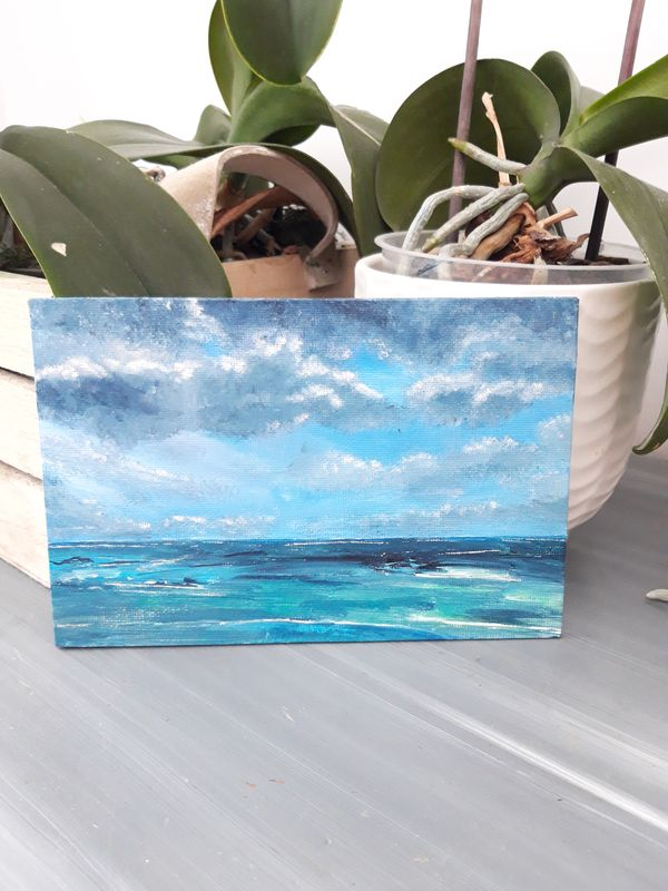 mini-peinture-paysage-marin-orage-petit-tableau-mer-ocean-royan-audrey-chal