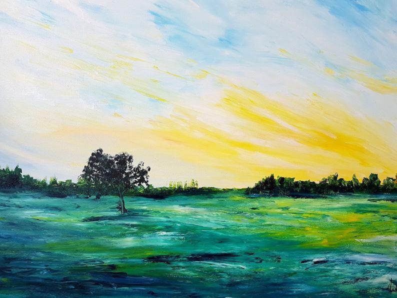 tableau-moderne-original-campagne-nature-royan-artiste-peintre-audrey-chal