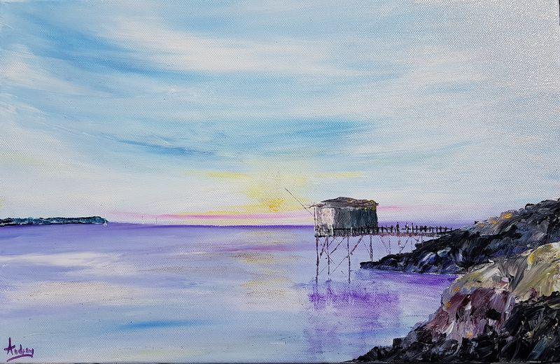 tableau-paysage-ocean-carrelet-peinture-marine-artiste-peintre-royan-audrey-chal
