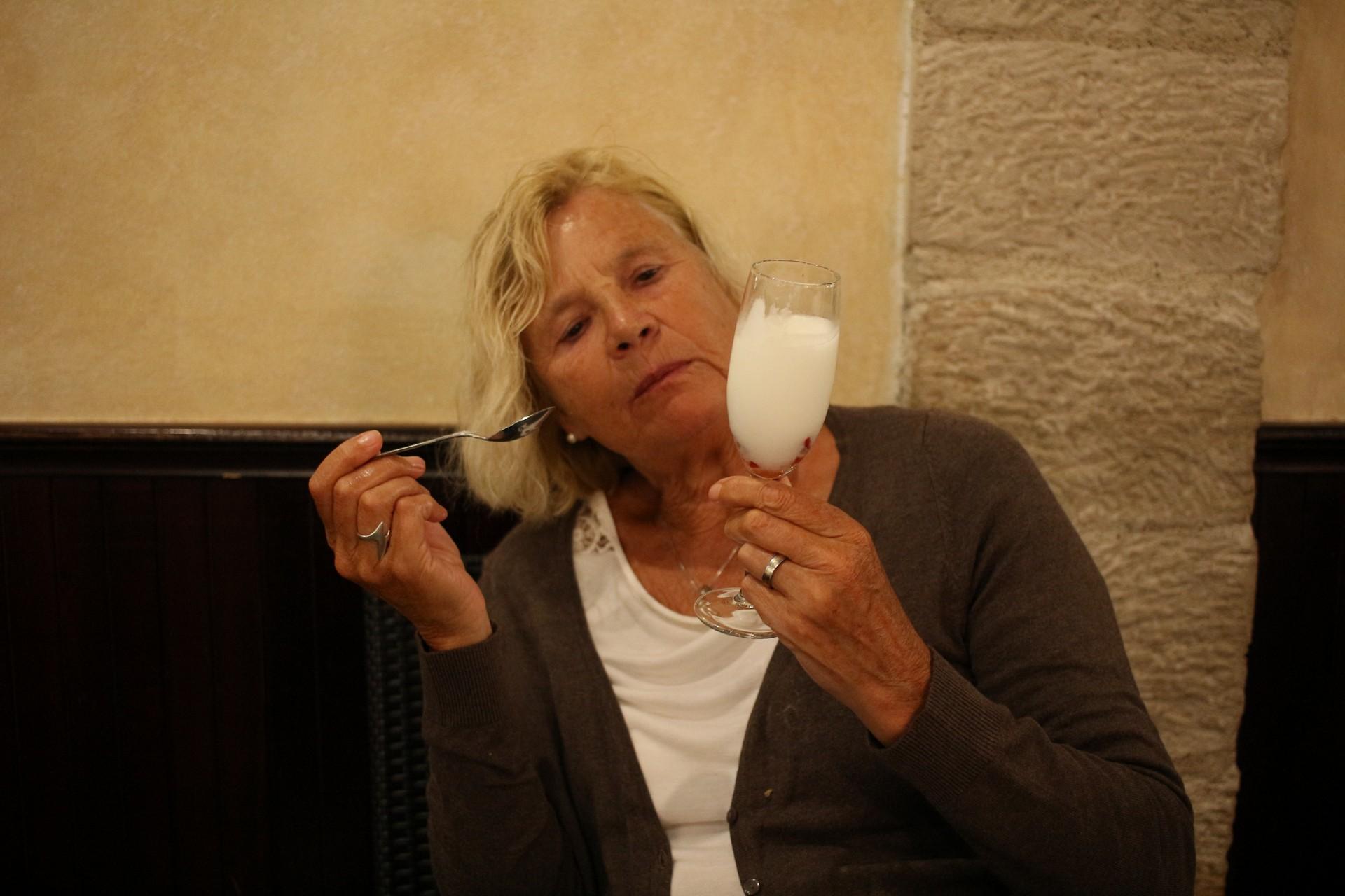 Jetzt noch ein Zitronen Sorbet - geschafft! Spruch des Tages von Brigitte: Dafür lass ich jedes Museum stehen.