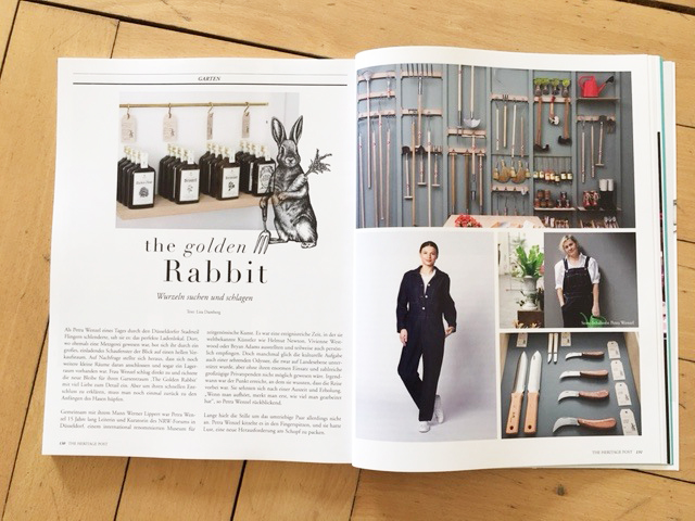The golden Rabbit is proud to be in THE HERITAGE POST WOMAN / Mai 2016!