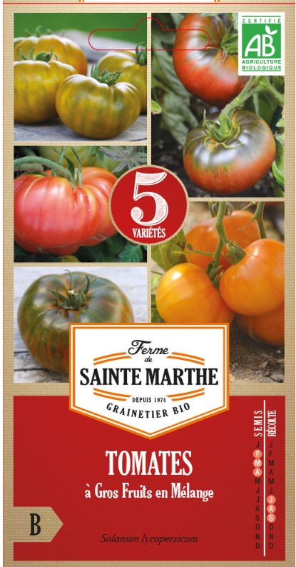 Fleischtomaten Mix - Alte Sorten Ferme de Saint Marthe bei www.the-golden Rabbit.de