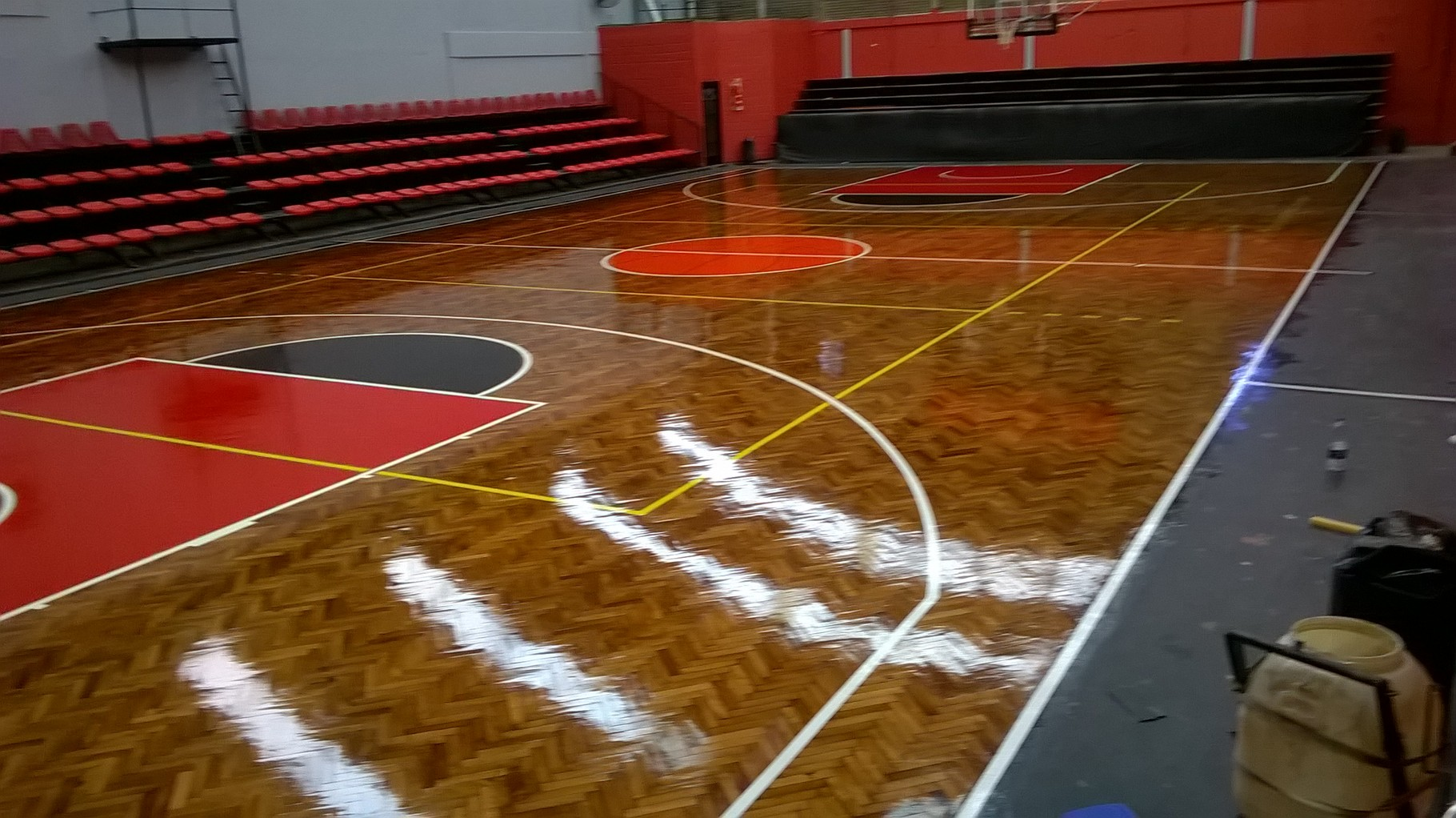 Marcado pintado de lienas de basquet en CLUB ATLETICO MONTE GRANDE