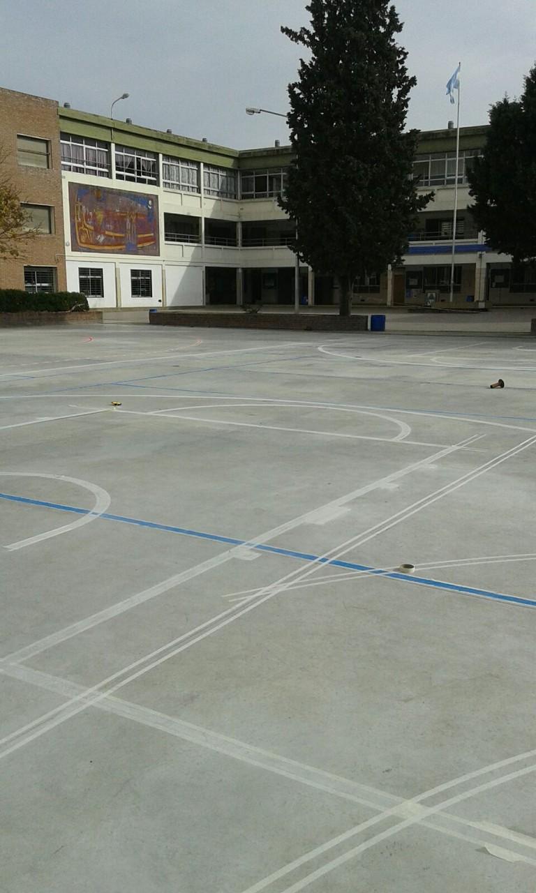 Marcado de lineas mutifuncionales deportivas Colegio Jesus Obrero