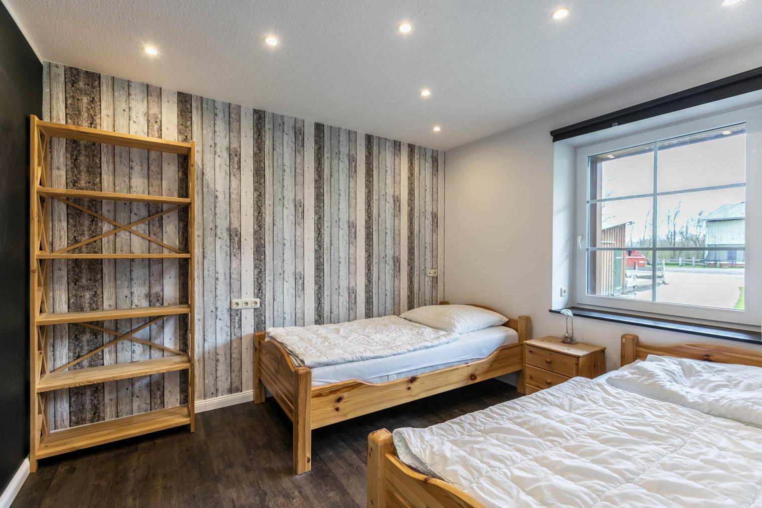 Zweites Schlafzimmer im Desing-Ferienhaus