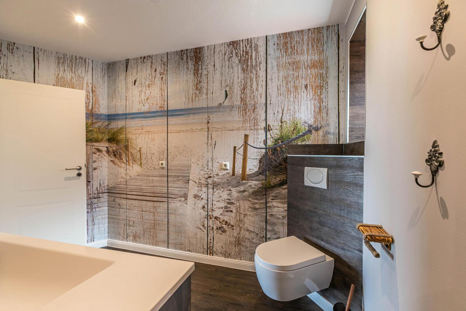 Modernes Badezimmer im Desing Ferienhaus bei SPO