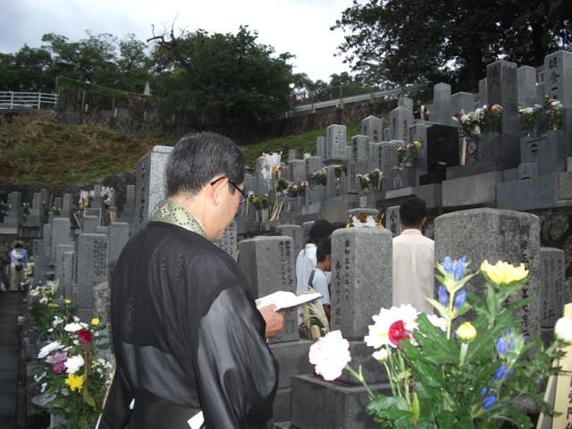 墓地お盆合同法要①