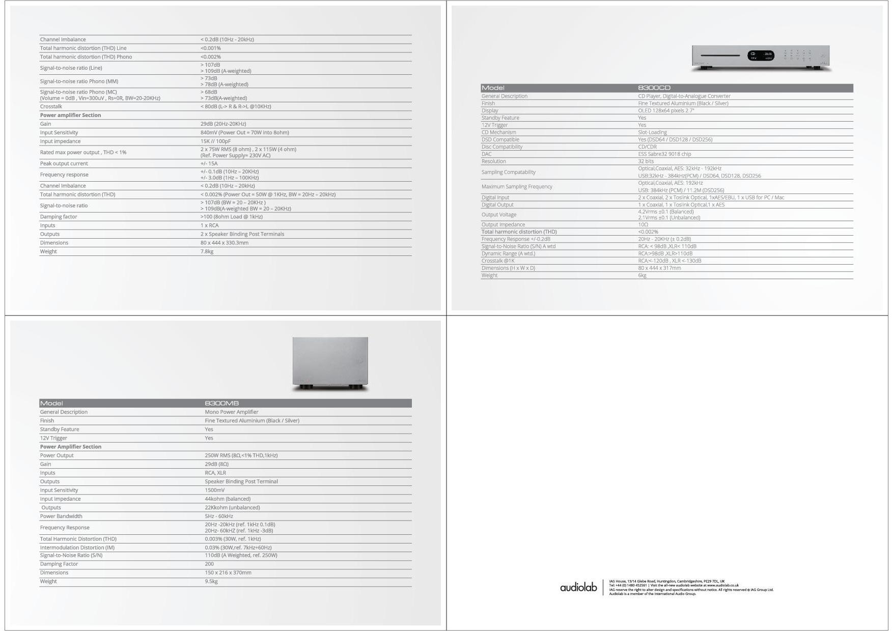 Audiolab Katalog S. 13+14